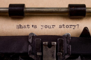 What`s your story - typed words on a Vintage Typewriter